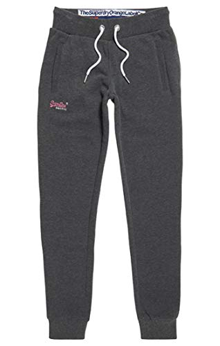 Superdry Damen Orange Label Joggers Sporthose,Grau (Foggy Charcoal Marl IO9),42 (Herstellergröße: 14)