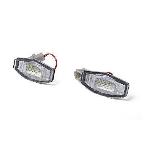 BEESCLOVER Ampoules LED pour Plaque d'immatriculation Acura TL TSX Honda Civic Blanc A1391