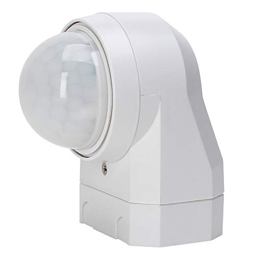 Kopp Infracontrol Bewegungsmelder I 240 Grad Außenleuchte mit Bewegungs-Melder I IP54 Außen-Beleuchtung als Einbruchschutz I Infrarot Präsenzmelder Aufputz für Außen und Innen I Weiß - 824617011