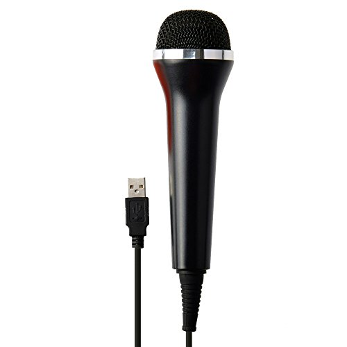 Gam3Gear Universal USB Audio Wired Karaoke Micrphone Mic for PS4 Slim/Pro/PS3/Xbox One/S/Xbox 360/Wii/PC