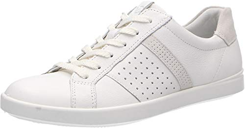 Ecco Damen LEISURE Sneaker, Weiß (White/Shadow White 52292), 39 EU