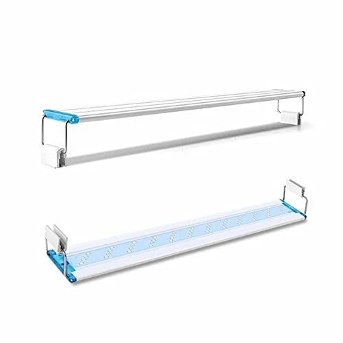 Morninganswer LED súper Delgados iluminación de Acuario luz de Planta acuática lámpara de Clip Impermeable Extensible para pecera 90-260V