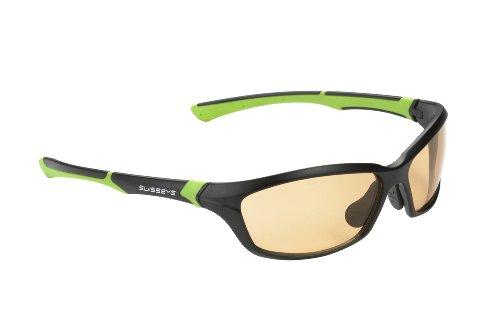 Swiss Eye Sportbrille Drift, black matt/green, One size