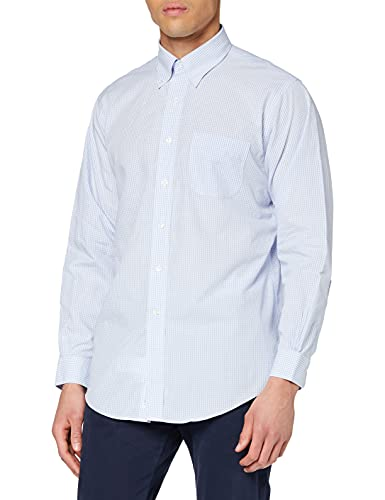 Brooks Brothers Camicia Regent Manica Lunga, Turchese (Light/Pastel Blue 455), Large (Taglia Produttore:16H 35) Uomo