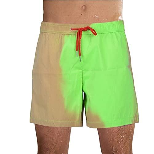 UKKD Pantaloncini da Bagno Uomo Pantaloncini da Nuoto da Uomo Estivi, Pantaloncini da Spiaggia, Tronchi da Bagno, Pantaloncini, Costumi da Bagno in Cambro A Colori-A3,XXL