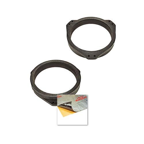 tomzz Audio 2839-007 MDF + Alubutyl Tür Set - Lautsprecherringe Adapter passend für Opel Astra, Vectra, Calibra, für 165mm Lautsprecher