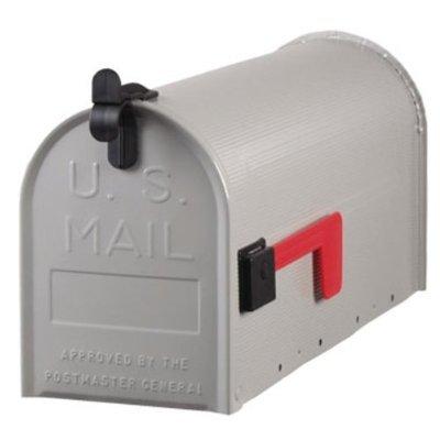 Origineel USS. Mailbox - standaard - stalen brievenbus grijs T1