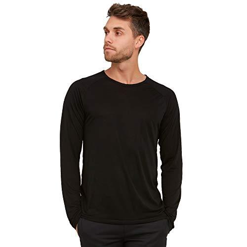 Brunella Gori T-Shirt Manica Lunga Girocollo in 100% Tencel Color Nero Taglia XL