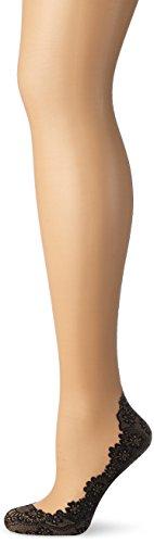 Palmers Damen Lovely Seam Halterlose Strümpfe, Beige (Skin-Schwarz 214), 36/37 (Herstellergröße: 35-37)