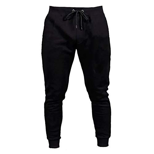 Calça Masculina Moletom Esporte Macio Preto