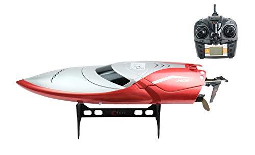 efaso H106 2 Kanal RC Rennboot Racing Boot ferngesteuert 2.4GHZ, mit digital proportionaler Steuerung, mit 25 km/h sehr schnell. Version 2020 RTR