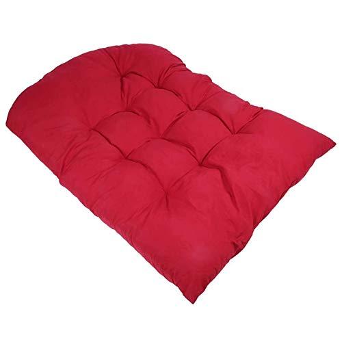 Mirui Cesta colgante para columpio con cojín para columpio, silla para colgar, asiento grueso, cojín para silla oscilante, silla suave para el hogar y jardín
