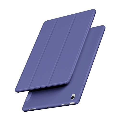 VAGHVEO Funda para iPad Air 4ª Generación 10.9 Pulgadas 2020 / iPad Pro 11' 2018 Ultra Delgada Smart Carcasa con Auto-Sueño/Estela Función, Flexible de Goma Suave Trasera Cover Cubierta, Azul Marino