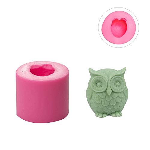 WANDIC Silikon-Gießformen, 1 Stck 3D Eule Kerzenform, Zylinder Silikonform Für Kerzen DIY Crafts Making