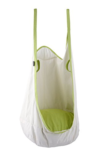 HAPPY PIE PLAY&ADVENTURE Frog Folding Hanging Pod Swing Seat Indoor and Outdoor Hammock for Children to Adult (White)