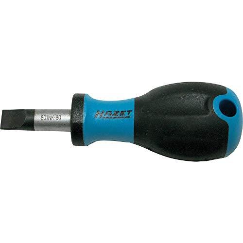 Hazet Schraubendreher (Schlitzprofil, extra kurze Ausführung: 89 mm) 801NK-80