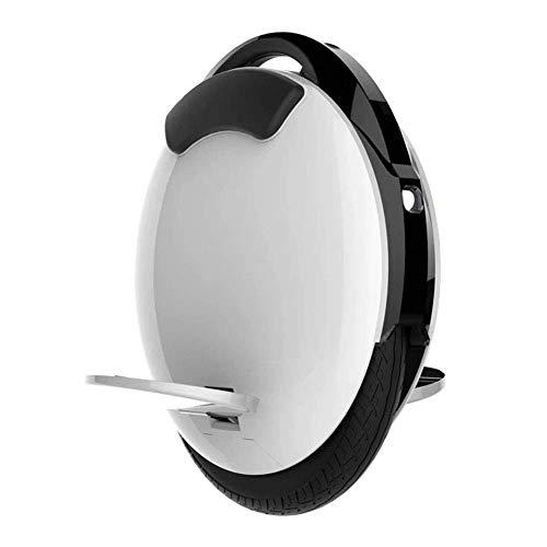 QX Scooter Elektro-Einrad, 450 W Mit App-Funktion, Einrad-Roller, 20 Km/H Reichweite 18 Km, Elektroroller Unisex Adult,Weiß