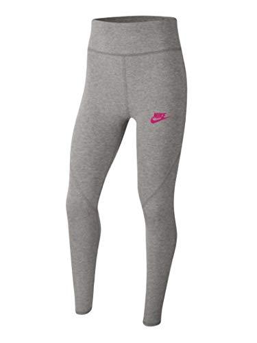 Nike CU8248-094 G NSW Favorites GX HW Legging Leggings Girls Carbon Heather/(Fireberry) M