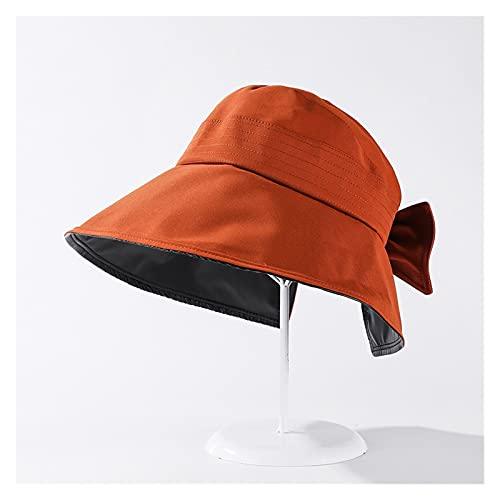 Sombreros De La Moda De Las Mujeres De Verano Solar CAP UV Playa Sun Visor Ancho Rolling Rolling Floppy Plate (Color : Caramel, Size : 56 58cm)