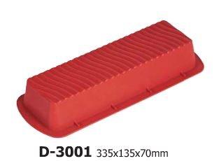 en Silicone Moule 29,5x 11x 6,5cm Long Rectangle en Silicone Moule à Cake Moule à gâteau avec Motif sur Le Dessus, Rouge/Marron