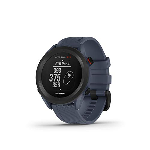 Garmin Approach S12 - Reloj para Golf (Campos mundiales preinstalados, Bluetooth y Resistente al Agua), Gris