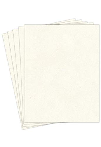 """New White Stationery Parchment Paper – Great for Writing, Certificates, Menus and Wedding Invitations   24Lb Bond Paper   8.5 x 11""""   50 Sheets/Pack"""