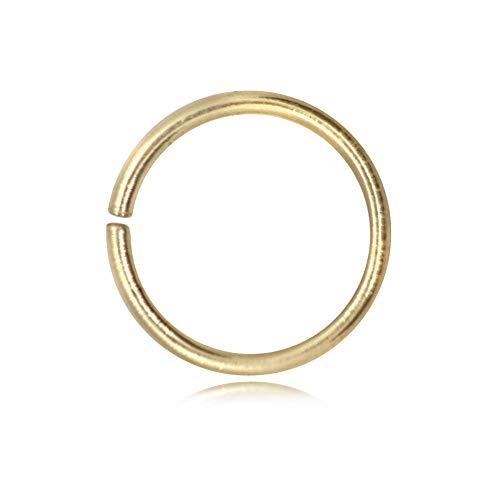 TJS Anellini Oro per BIgiotteria e Gioielli 5 Pezzi Diametro 10mm Spessore 1.5mm Perfetti per Bracciali Collane Orecchini