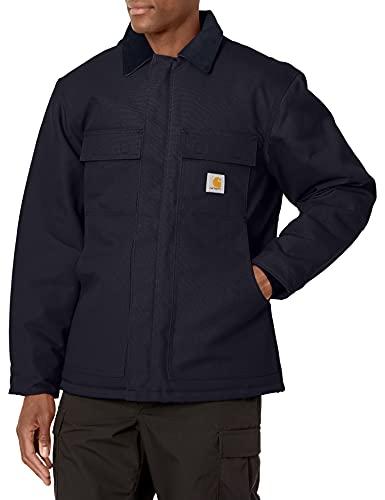 Carhartt Men's Big & Tall Arctic Quilt Lined Duck Traditional Coat C003,Dark Navy,X-Large Tall