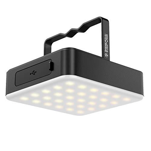 JOYEKY 13400mAh Wiederaufladbare Campinglampe, LED Camping Laterne mit 100 Helligkeiten Stufenlos Dimmbar (Lichtzeit 1500 Stunden) & Aluminium Material Laterne für Wandern, Angeln, Home Power Cuts