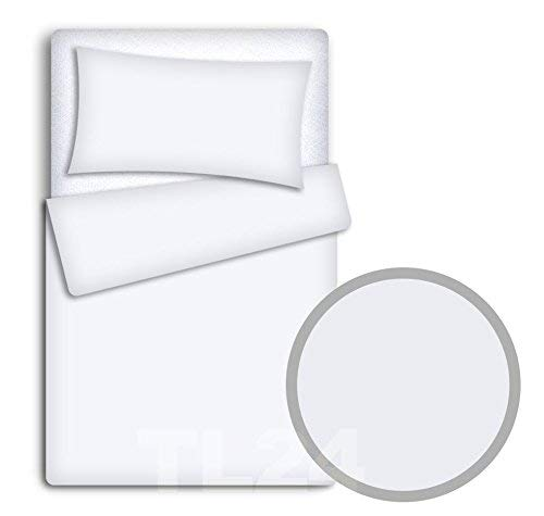 Baby Bedding Set Pillowcase + Duvet Cover 2PC to FIT Baby COT (White)