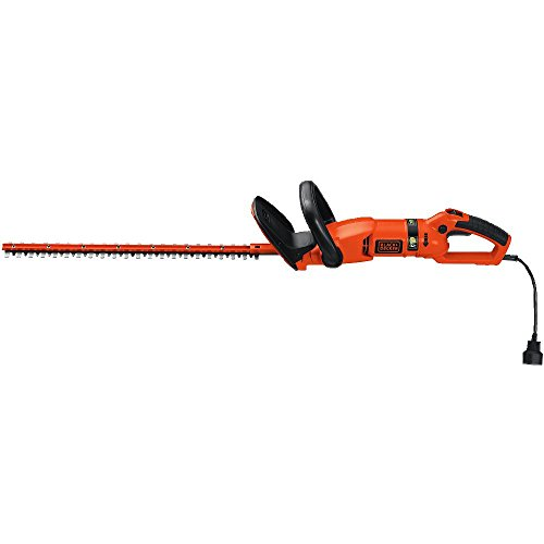 BLACK+DECKER Hedge Trimmer, Rotating Handle, Dual Blade Action Blades, 3.3-Amp, 24-Inch (HH2455)