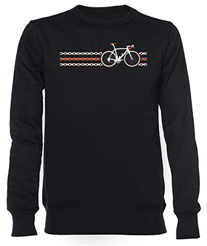 Fiets Stripes Team Lucht - Keten Unisex Mannen Dames Trui Zwart Unisex Men's Women's Jumper Black