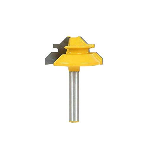"""XQK 1/2-Zoll-Schaftfräser, 45-Grad-Gehrungsfräser Fräser Fräser Fräser Holzfräser Bohren Holzbearbeitungswerkzeug 1-3/8"""", 1/4-Zoll (1/4 * 1-3/8)"""