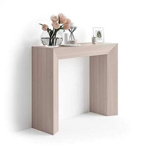 Mobili Fiver, Giuditta Consolle Fissa da Ingresso, Olmo Perla, Nobilitato, 90x30x75 cm, Made in Italy