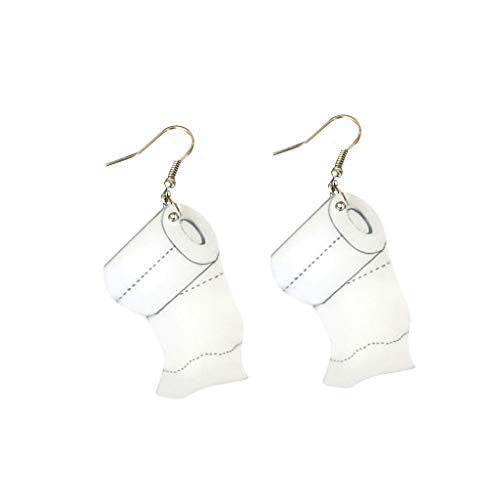 Hunpta - Pendientes colgantes de papel de rollo creativo para mujer