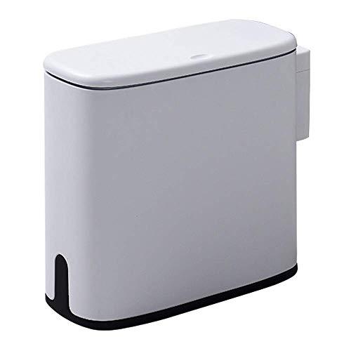 New 11L fictile Abfalleimer Badezimmer Verbrauchen Bin WC Mülleimer Trash Korb Müll Eimer Müllsack-Halter-Speicher Container Bento Lunch Box for Kinder (Farbe: weiß) 1yess (Color : Gray Cloud)