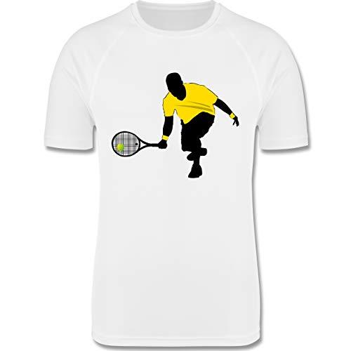 Sport Kind - Tennis Squash Kniend - 152 (12/13 Jahre) - Weiß - Tennis - F350K - atmungsaktives Laufshirt/Funktionsshirt für Mädchen und Jungen