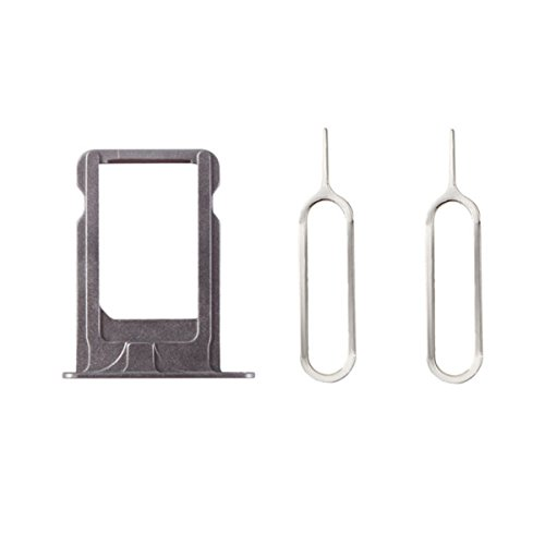 Portatarjetas SIM Card Tray SIM titular de la tarjeta Gris para iPhone 5s + 2 SIM Aguja Nail Expulsar pines