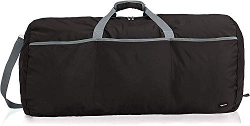 Amazon Basics - Borsone grande, 98 l,Nero
