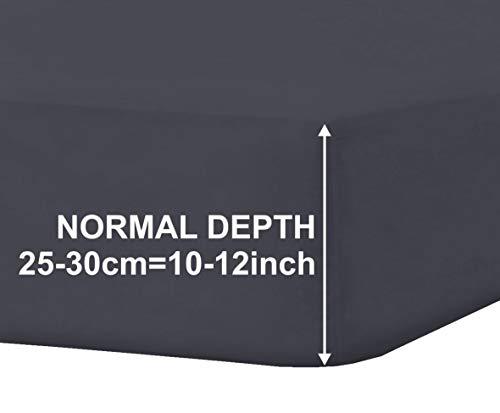 MHC Global Luxe hoeslaken, strijkvrij, percale kleur, voor eenpersoons, klein tweepersoonsbed, 122 cm, superking-size-bed