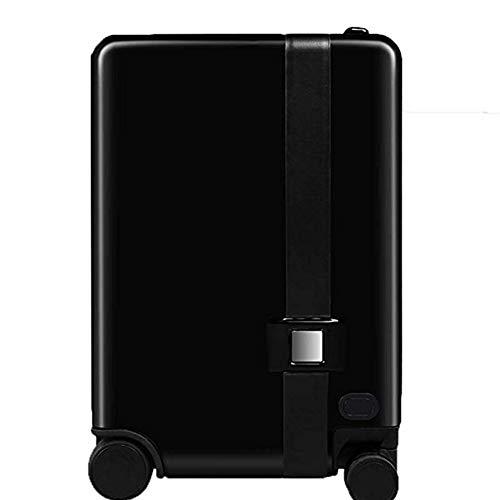 Pc-Hxl volgt automatisch de trolley koffer elektrische intelligente koffer anti-verloren alarmsysteem afstandsbediening reis-bagage trolley koffer TSA duimblokkering (20 inch), zwart, wachtwoord