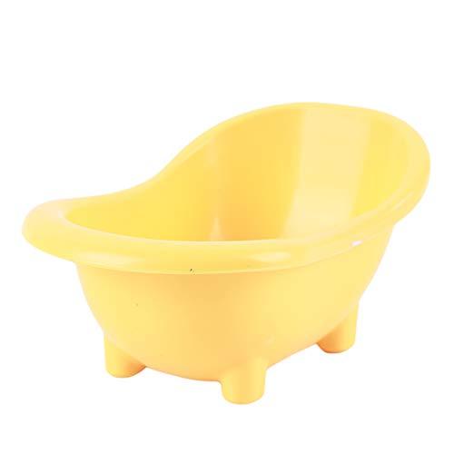 ZALING Haustier Badewanne Badezimmer Kleintier Mäuse Badewanne Badewanne Für Ratten Hamster,Gelb