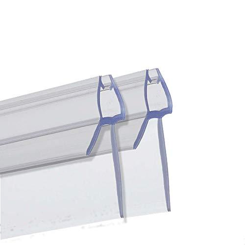 PREMIUM GRID Duschtür Dichtung (2x 100cm) für 6mm 7mm 8mm Glastür Stärken   Wasserabweisende Duschdichtung oder Duschkabinen-Dichtung mit optimal angeordneten Gummilippen
