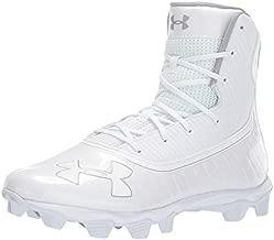 Under Armour Men's Highlight RM Football Shoe, White (101)/Metallic Silver, 10