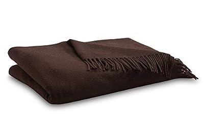 Merino Wool Throw Blanket - Brown