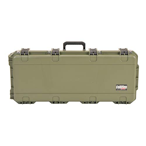 SKB Cases iSeries 3I-3614-PL-M Hard Plastic Exterior Waterproof Parallel Limb Bow Crossbow Case, Military Green