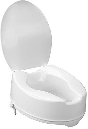 Rialzo WC, AlzaWater Anatomico con Sistema di Fissaggio Laterale (Con coperchio, Altezza 14cm)