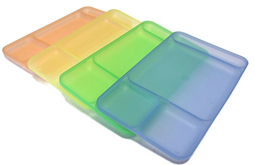 Tupperware Impressions Divided Dining TV Trays Plates Set of 4