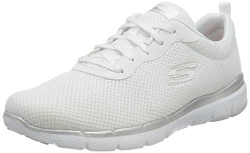 Skechers 13070/WSL Appeal 3.0-First Insight Damen Sneaker weiß/Silber, Größe:39, Farbe:Weiß