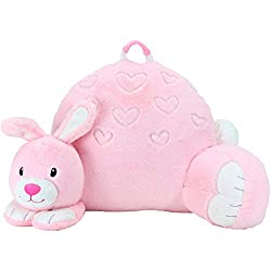 Sweet Seats Adorable Bunny Reading Cushion. Lightweight and Portable Bunny Bed Rest Pillow. Perfect for Ages 2+